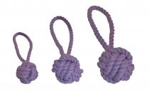 Wurfball mit Schlaufe flieder, 3 verschiedene Größen