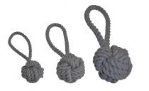 Wurfball mit Schlaufe flanellgrau, Größe M