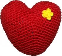 Gehäkeltes Herz, rot